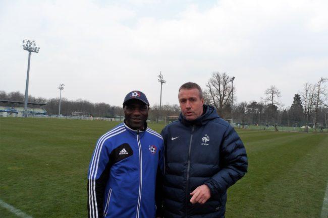 coach etienne bebi siguile - soccer montréal Coach Etienne Bebi Siguile – Soccer Montréal stage Lemans france Avril 2013 0675799 650x433